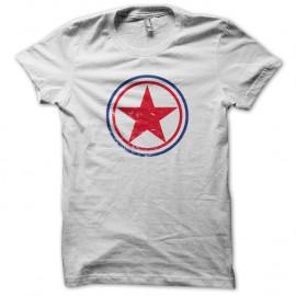 Shirt coree du nord cocarde blanc pour homme et femme