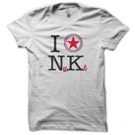 Shirt I love North Korea pour homme et femme