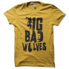 Shirt big bad wolves film tarantino jaune pour homme et femme