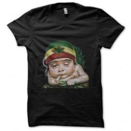 Shirt baby rasta noir pour homme et femme