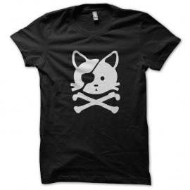 Shirt chat pirate noir pour homme et femme