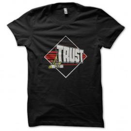 Shirt trust anti social noir pour homme et femme