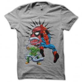 Shirt Spidey vs Doc Octopus gris pour homme et femme