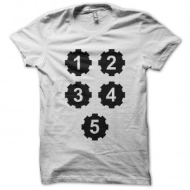 Shirt fallout equation blanc pour homme et femme