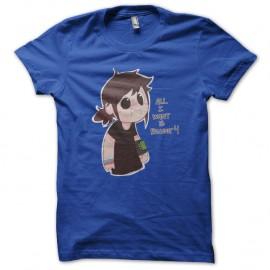 Shirt All i want is fallout bleu pour homme et femme