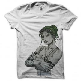 Shirt fallout blanc pour homme et femme