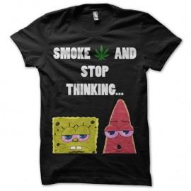 Shirt Stop Thinking noir pour homme et femme