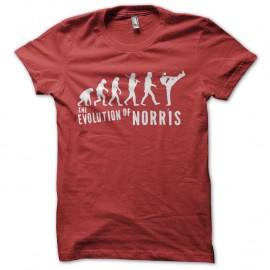 Shirt evolution chuck norris rouge pour homme et femme
