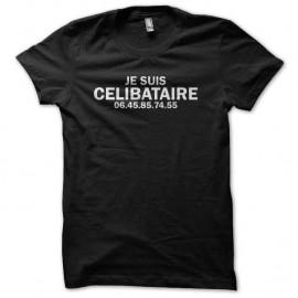 Shirt célibataire noir pour homme et femme