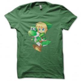 Shirt chibi link et yoshi vert pour homme et femme