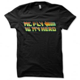 Shirt Mc fly is my hero noir pour homme et femme