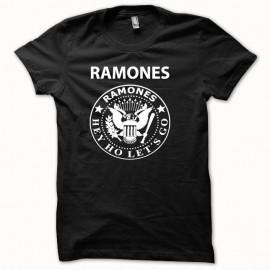Shirt RAMONES blanc/noir pour homme et femme