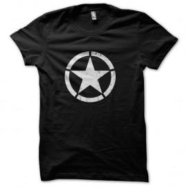 Shirt Cocarde US Star Noir pour homme et femme