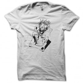 Shirt joker card blanc pour homme et femme