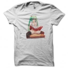 Shirt Hatsune Miku Cute Seifuku blanc pour homme et femme