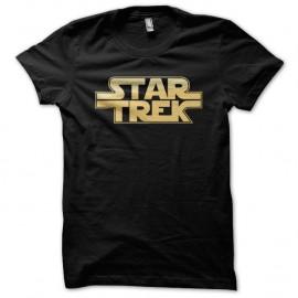Shirt SW Star Trek Wars noir pour homme et femme