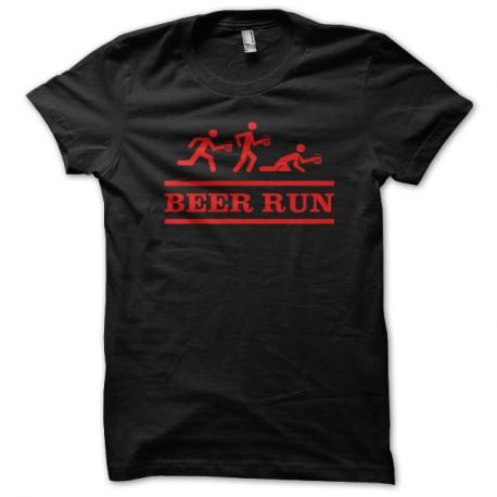 Shirt Beer Run noir pour homme et femme