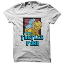 Shirt turtles porn blanc pour homme et femme