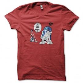 Shirt R2 robot aspirateur I am your father rouge pour homme et femme