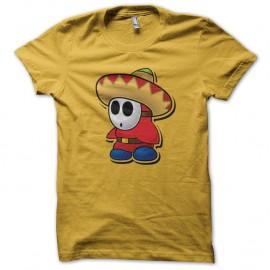 Shirt sombrero mexico jaune pour homme et femme