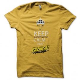Shirt keep nadievastore calm and bazinga jaune pour homme et femme