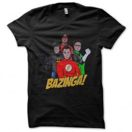 Shirt big bang theory en groupe bazinga noir pour homme et femme