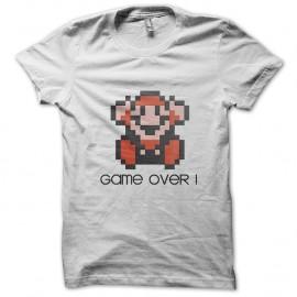 Shirt Game Over blanc pour homme et femme