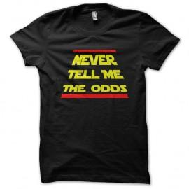 Shirt never tell me the odds noir pour homme et femme