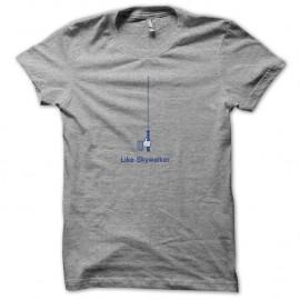 Shirt Like Skywalker parodie facebook gris pour homme et femme