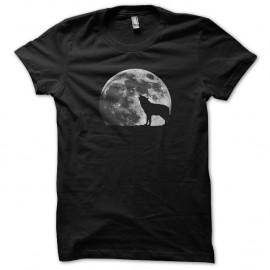 Shirt loup garou pleine lune noir pour homme et femme