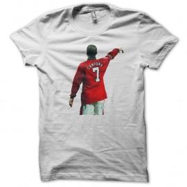 Shirt eric cantona numero 7 de legende blanc pour homme et femme