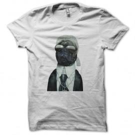Shirt karl lagerfield parodie dog blanc pour homme et femme