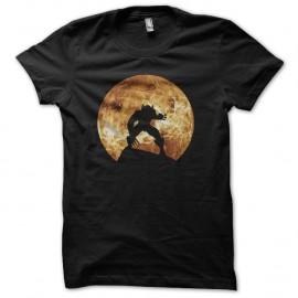 Shirt wolverine ombre pleine lune noir pour homme et femme