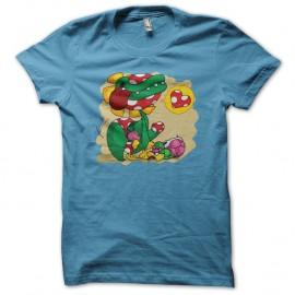 Shirt Plante piranha amoureuse bleu ciel pour homme et femme