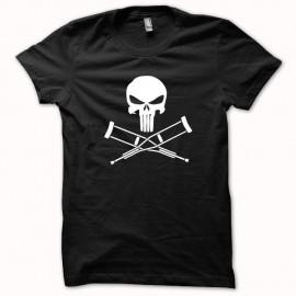 Shirt Jackass vs Punisher version super héro blanc/noir pour homme et femme