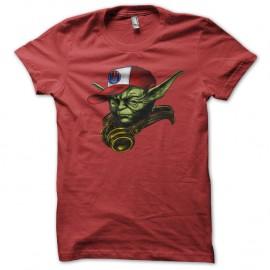 Shirt maitre yoda swag nouvelle version rouge pour homme et femme