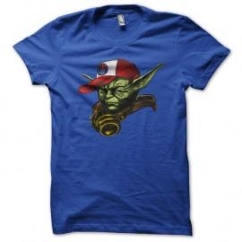 Shirt maitre yoda hip hop swag nouvelle version bleu pour homme et femme