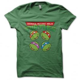 Shirt tortues ninja vert pour homme et femme