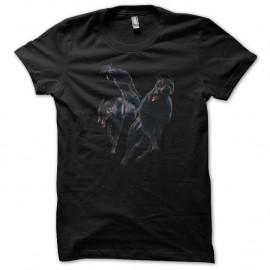 Shirt Doberman zombie noir pour homme et femme