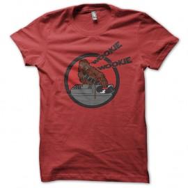 Shirt wookie qui mix rouge pour homme et femme
