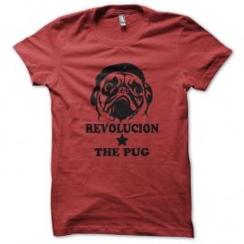 Shirt pug guevara rouge pour homme et femme