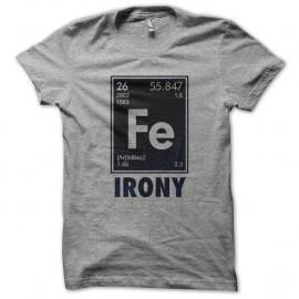 Shirt element fondamental ironique gris pour homme et femme