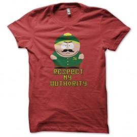 Shirt eric cartman respect my authority version communiste rouge pour homme et femme