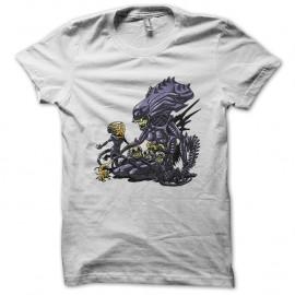 Shirt Maman alien blanc pour homme et femme