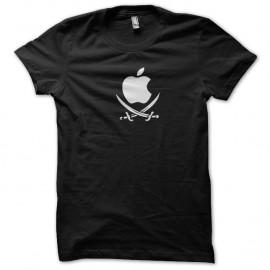 Shirt apple pirate noir pour homme et femme