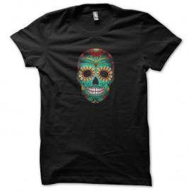 Shirt skull art noir pour homme et femme