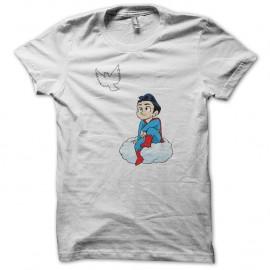 Shirt superman adolescent blanc pour homme et femme