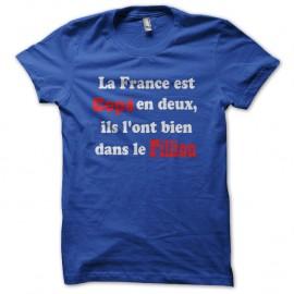 Shirt france parodie politique coppe et fillion bleu pour homme et femme