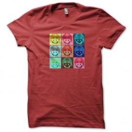 Shirt super mario multi faces rouge pour homme et femme
