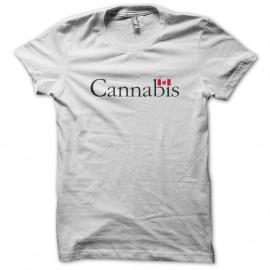 Shirt Cannabis canada blanc pour homme et femme